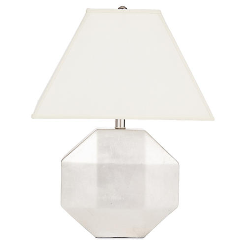 Ascher Ceramic Lamp, Silver