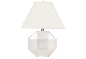 Ascher Ceramic Lamp, Silver