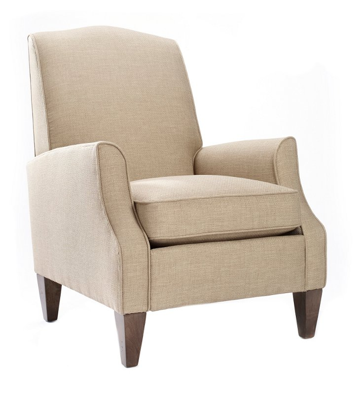 Savannah High-Back Chair, Khaki