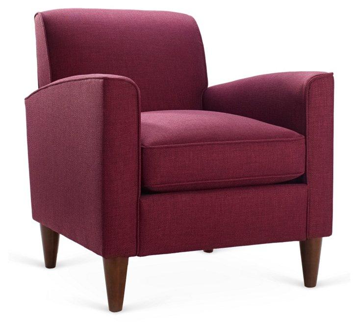 Carson Chair, Raspberry