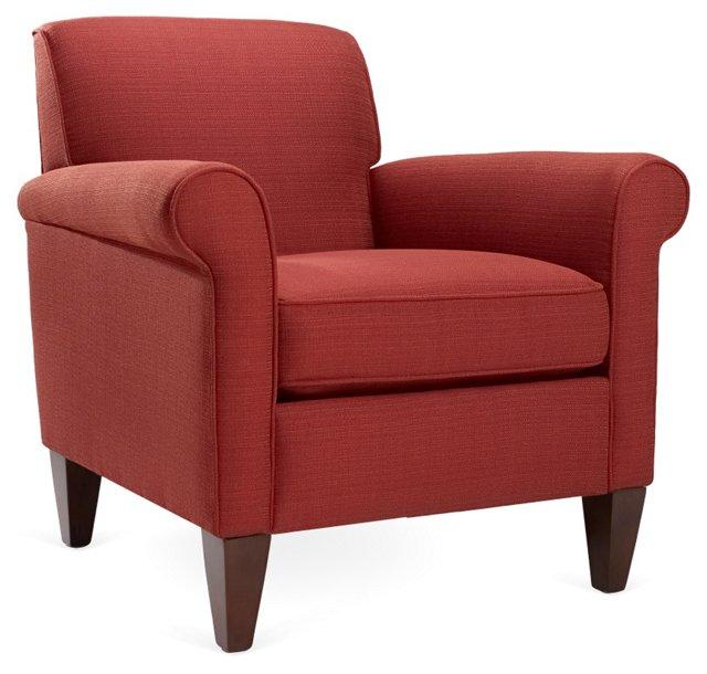 Alyssa Club Chair, Garnet
