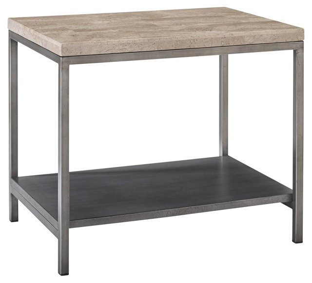 Sawyer Side Table, Travertine