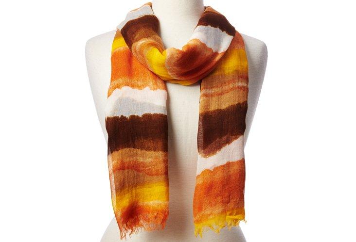 Scarf, Orange/Brown