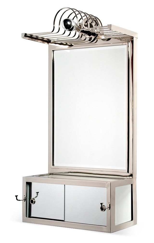 Lighted Wall Mounted Mirror, Nickel