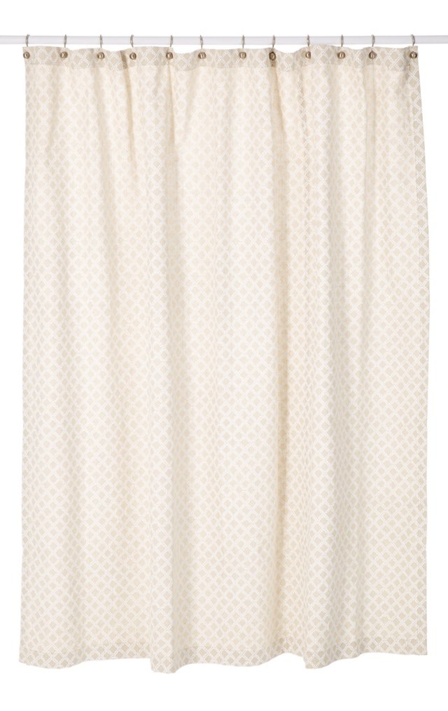 Shower Curtain, Natural/White