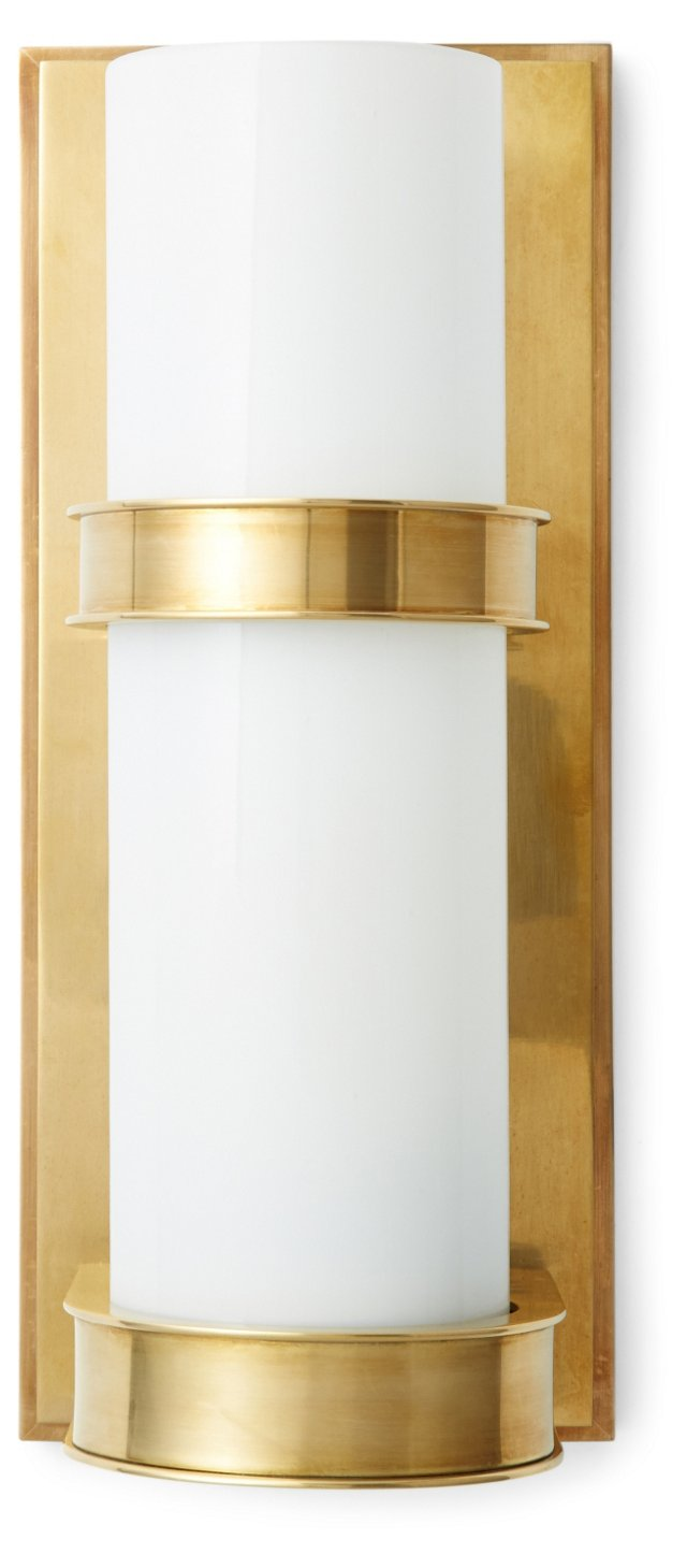 Wall-Mounted Sconce, Brass