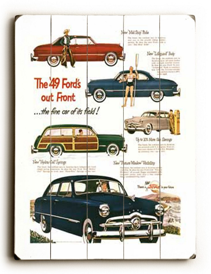 The '49 Ford's out Front