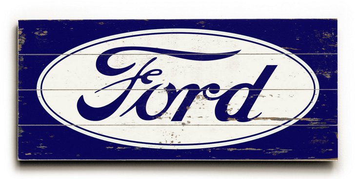 Ford White Oval