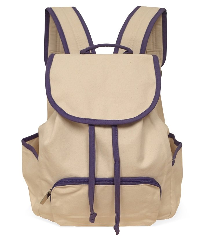 Backpack, Natural/Violet