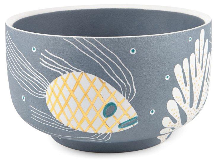 Sea Chubby Bowl, Blue/Gray
