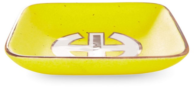 "5"" Square Tray, Yellow/Platinum"