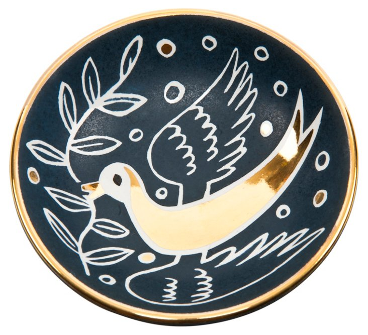 Dove Bullet Bowl, Blue/Gold
