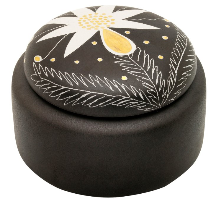 """5"""" Thistle Rounded Box, Brown"""