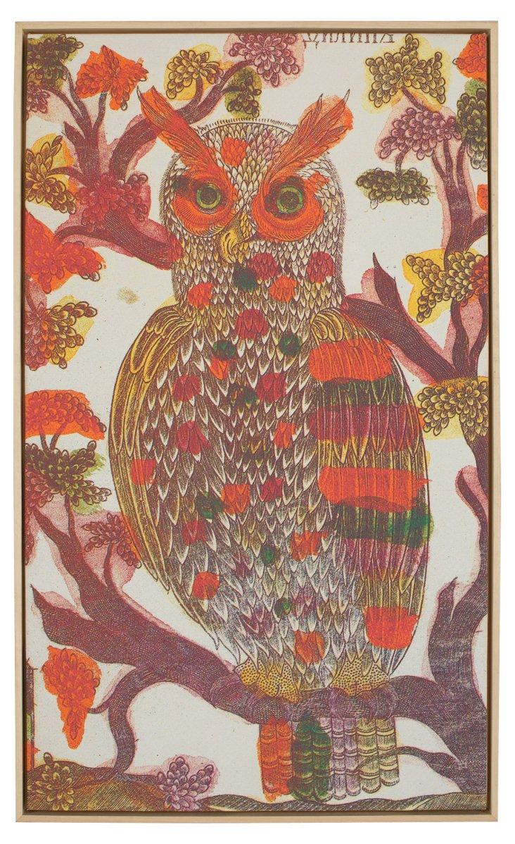Orange Owl Art