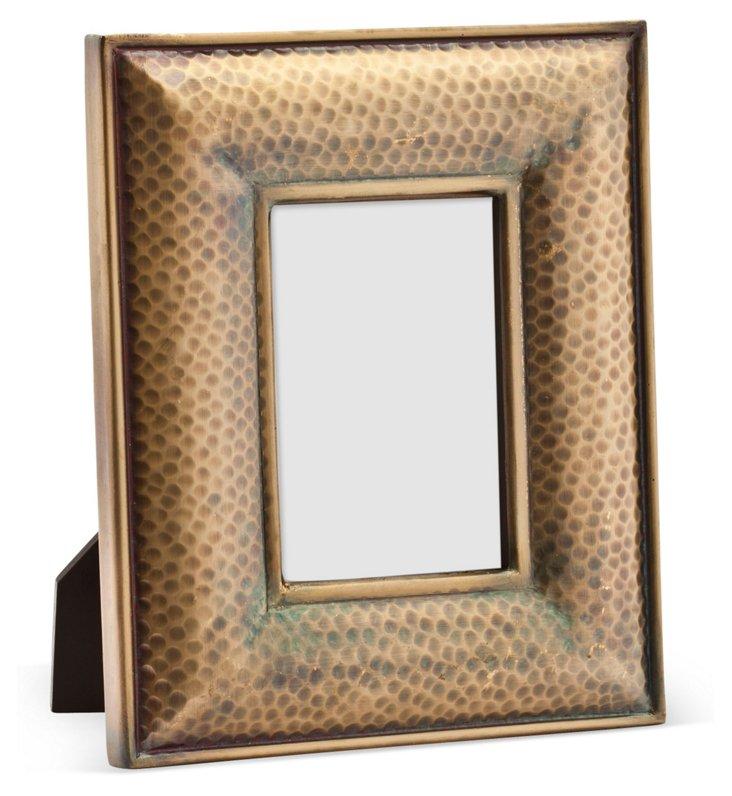 Hammered Metal Frame, 4x6, Gold