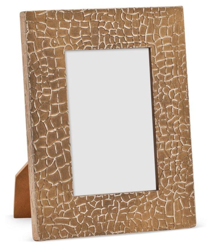 Crocodile Frame, 4x6, Gold