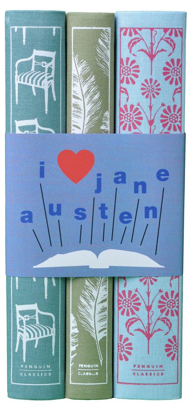 "S/3 ""I Love Jane Austen"" Book Set"