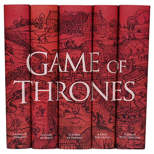 S/5 Game of Thrones Books, Blood Red