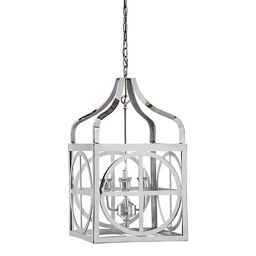 Sherman Lantern, Polished Nickel