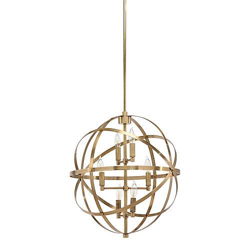 Orbit 6-Light Pendant, Brass