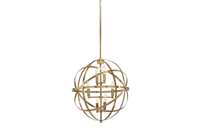 Orbit 6-Light Pendant - Brass