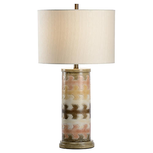 Maze Table Lamp, Multi/Cream
