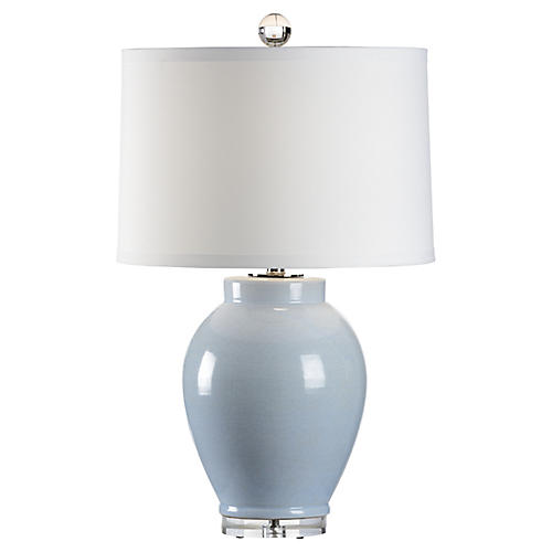 Capri Table Lamp, Cloud Blue Glaze