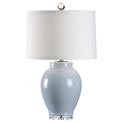 Capri Table Lamp, Cloud Blue Glaze