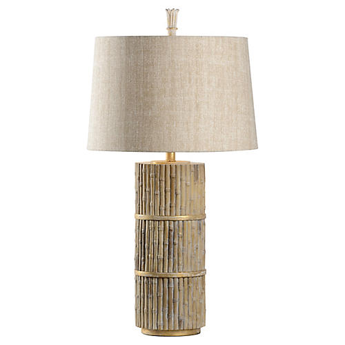 Tobago Table Lamp, Natural/Gold
