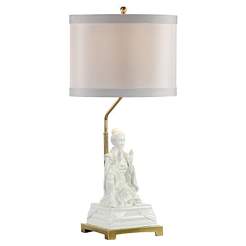 Kiki Empress Table Lamp, Gardenia White