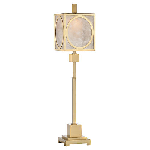 Clive Table Lamp, Polished Brass