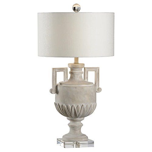 Jefferson Table Lamp, Whitewash