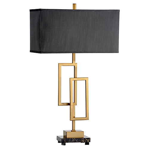 Winslet Marble Table Lamp, Brass