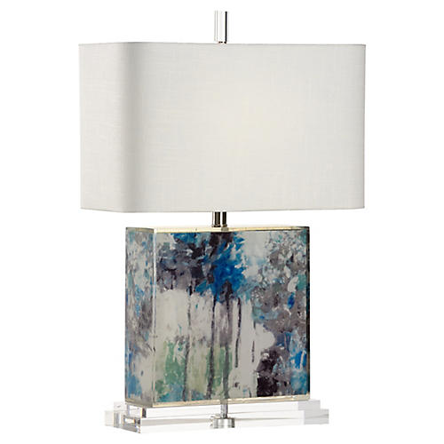 Chantal Table Lamp, Multi/Clear