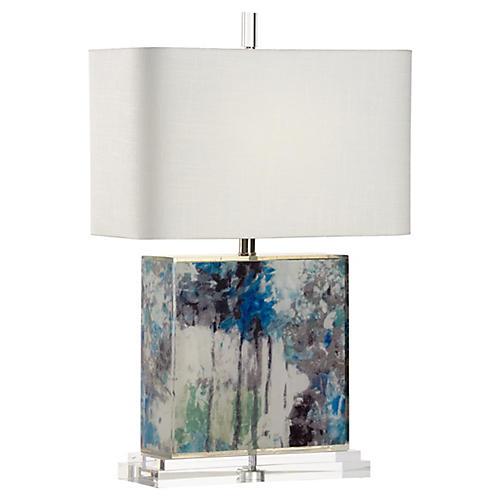 Chantal Table Lamp, Multi/Clear