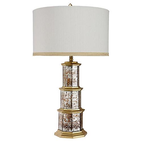 Zhending Mercury Glass Table Lamp