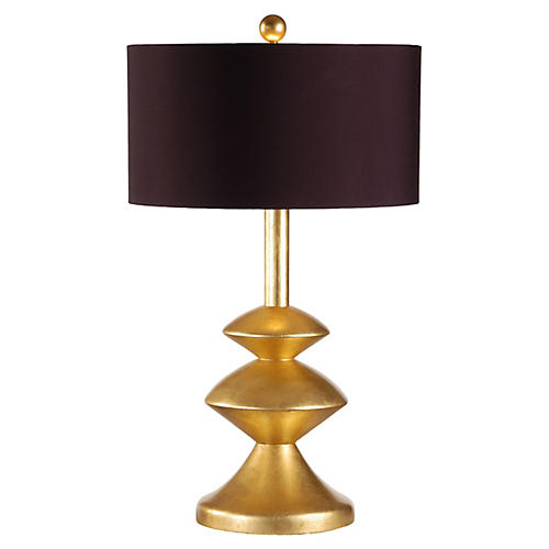 Eliptical Discs Table Lamp, Yellow Gold