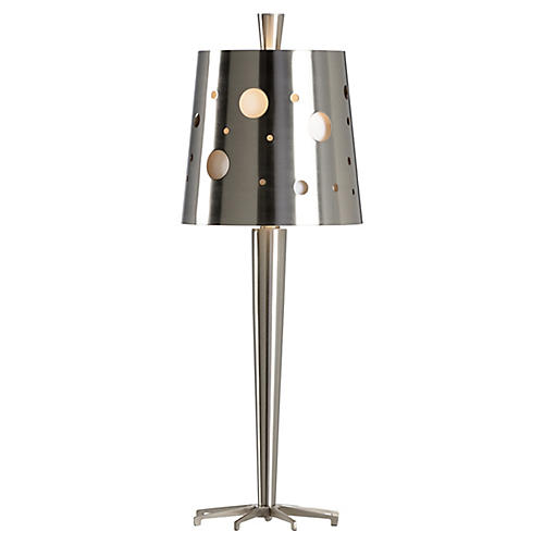 Uber Table Lamp, Brushed Nickel