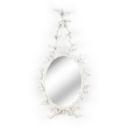 Oakmont Wall Mirror, Matte White