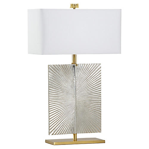 Coventry Table Lamp, Silver/Brass