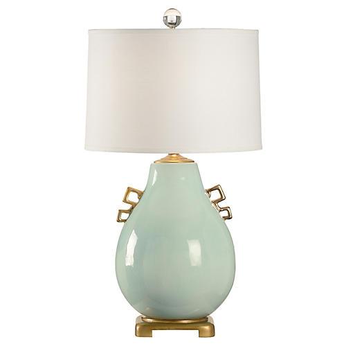 Wellsey Table Lamp, Robin's-Egg Blue