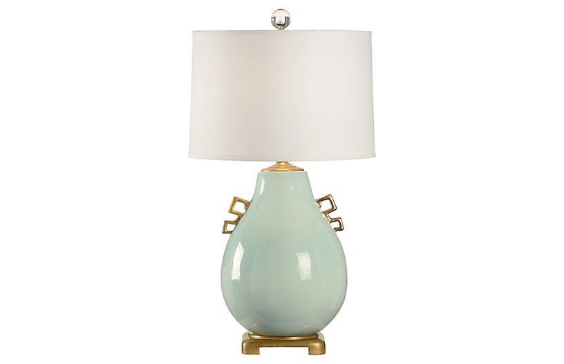 Wellsey Table Lamp, Robin's-Egg Blue