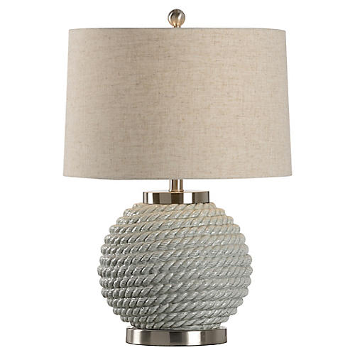 Belby Table Lamp, Sage Green