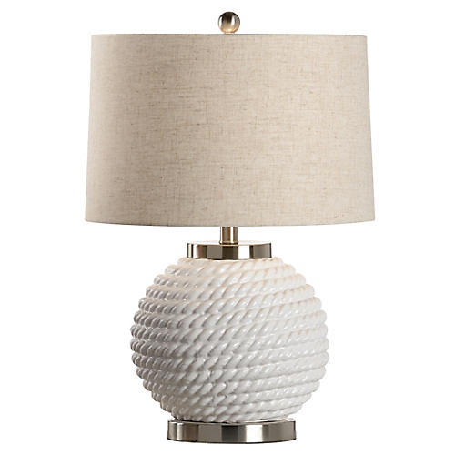 Belby Table Lamp, Ice White