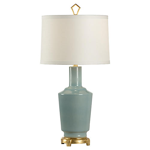 Demitri Table Lamp, Sea Mist/Gold