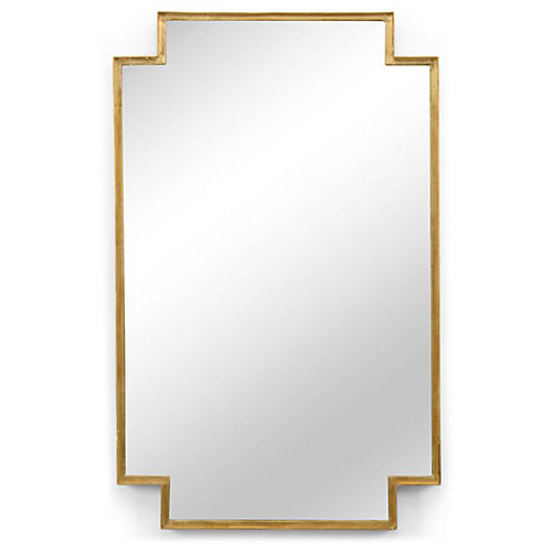 Scriven Oversize Wall Mirror, Antiqued Gold