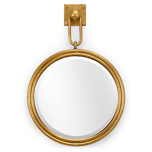 Carsten Wall Mirror, Antiqued Gold