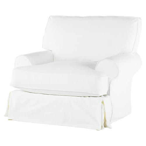 Lauren Club Chair, White