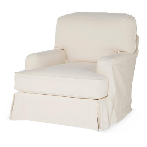 Caroline Club Chair, Natural