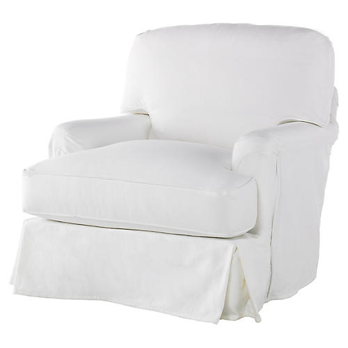 Caroline Club Chair, White
